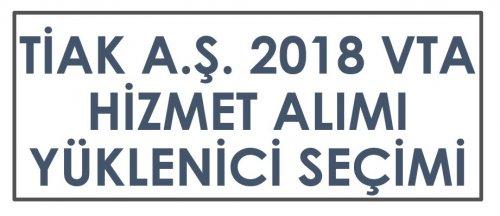 VTA 2018 HİZMET ALIMI